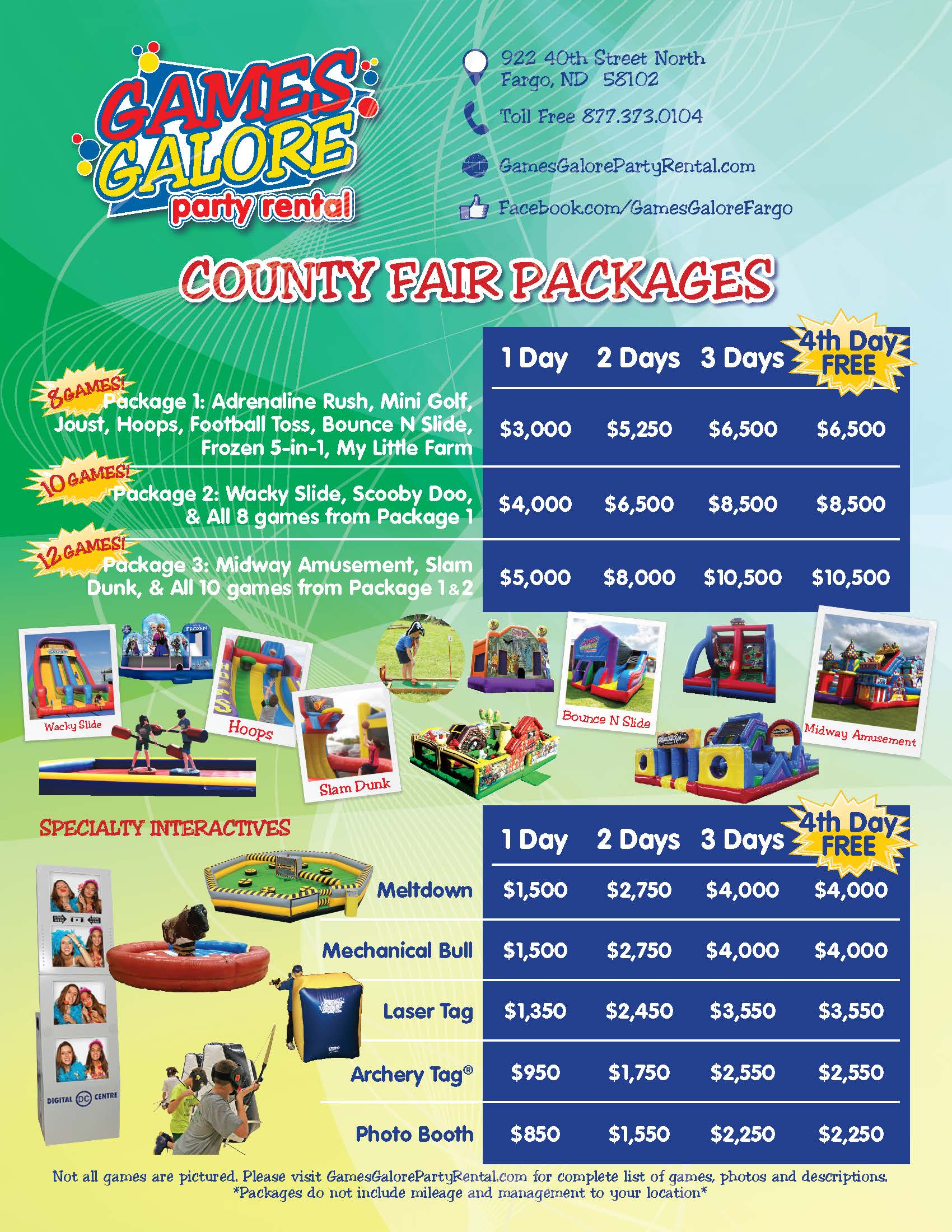 County Fair Packages Flier