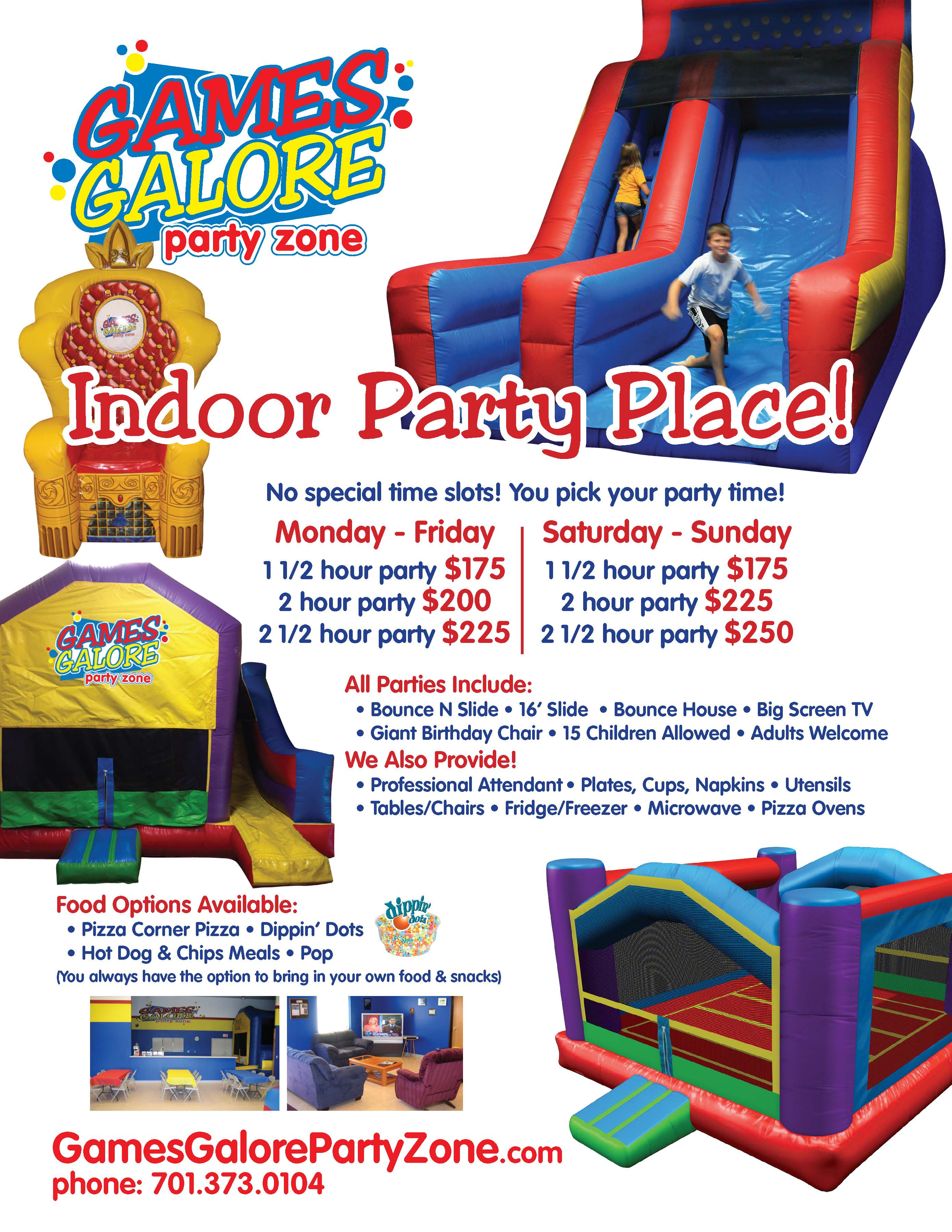 Party Zone Flier Package for the Website