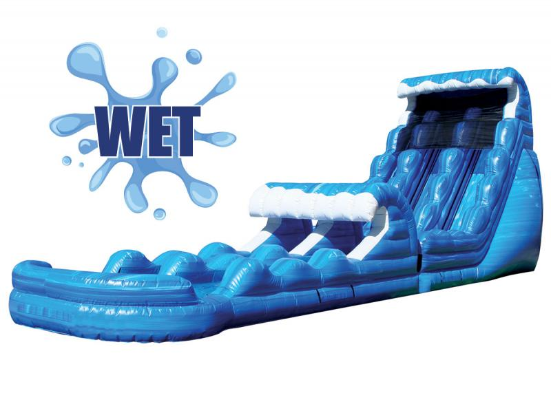 22' Blue Super Slide & Splash