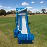 Wild Wave Jr Water Slide front view, blue wave