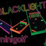 Black Light Mini Golf Set Up