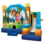 Dora & Diego Bounce Castle Front Full View
