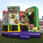Sports 5 in 1 combo inflatable front view with jumping area