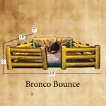 Bronco Bounce Bull Matt with Sizes of Inflatable Shown