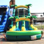 Tropical Slide and Splash Water Slide Front View