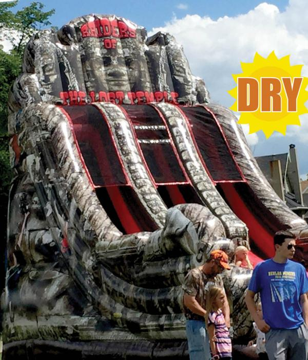 Raiders of the Lost Temple Slide Side View Dry Logo
