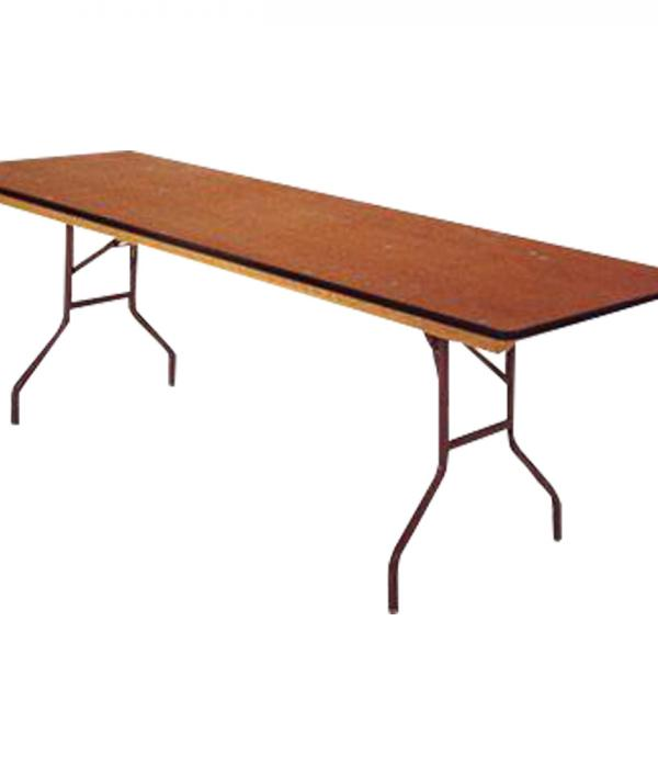 8 foot wooden folding table